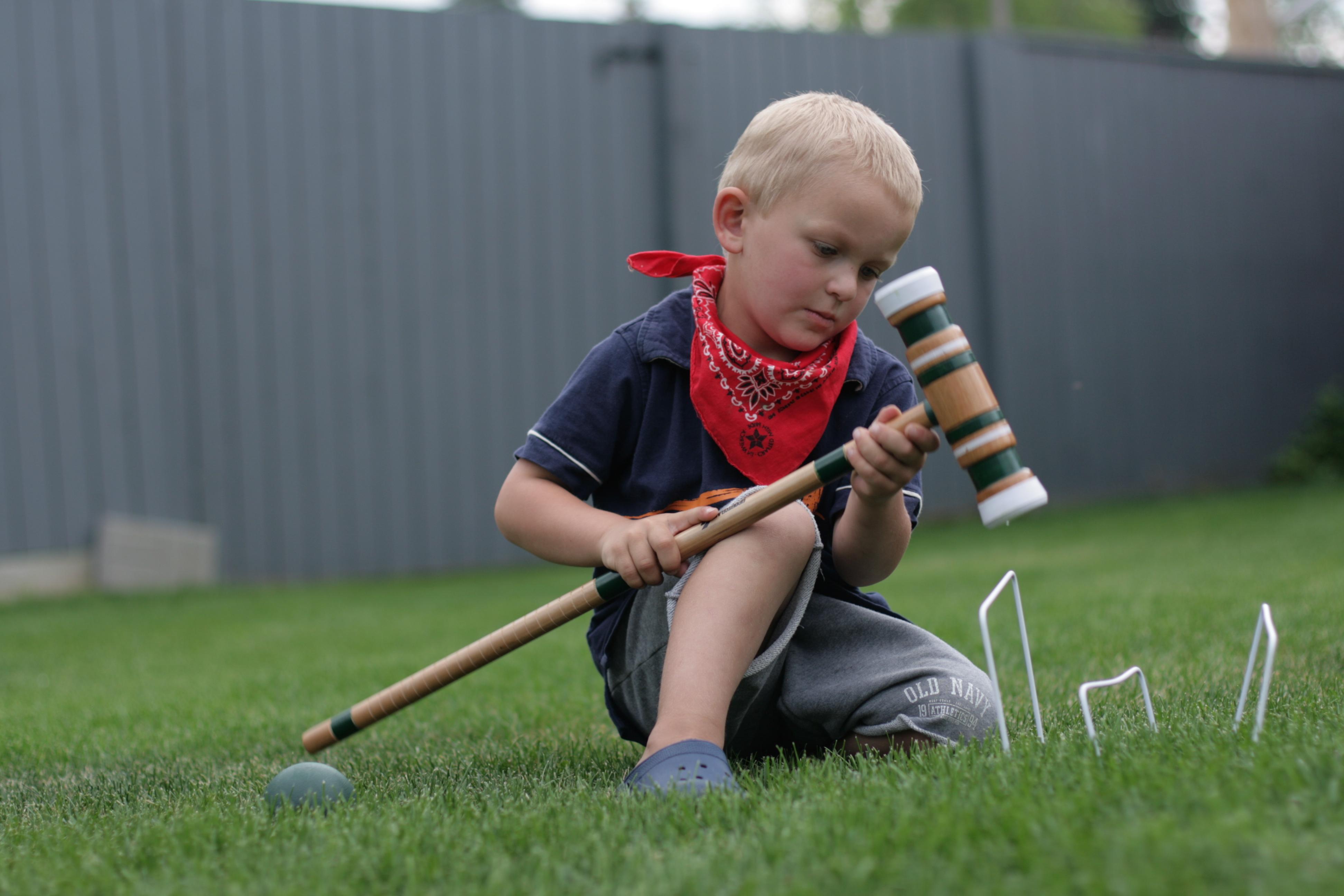 backyard play serious play