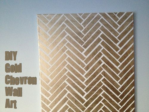 1-Gold-Chevron-Wall-Art-Tutorial