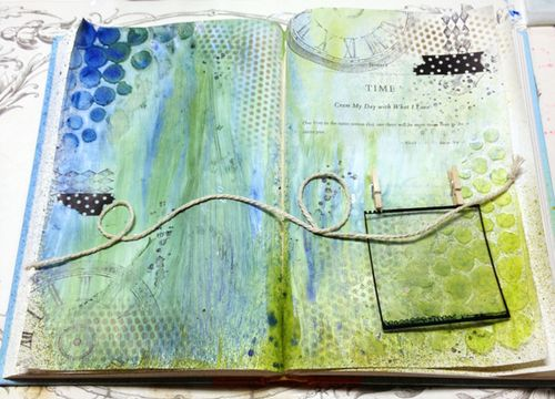 Art-Journal-stamps-string-photo