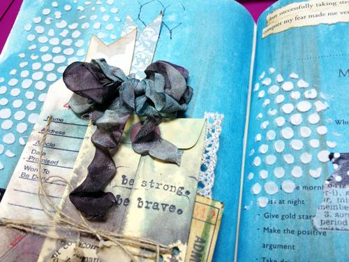 Grunge-ribbon-in-art-journal
