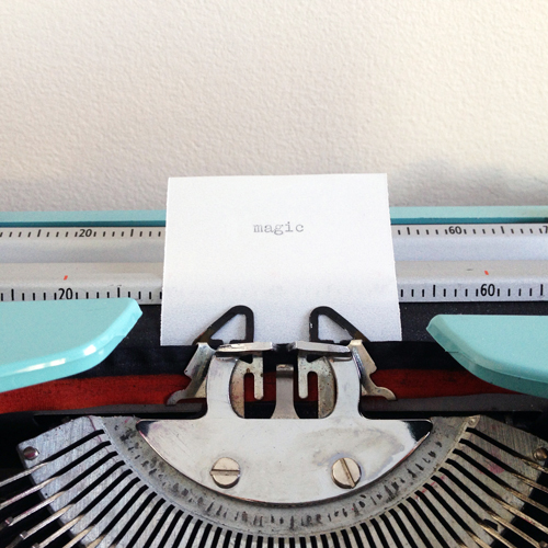 Vintage-typewriter-Magic