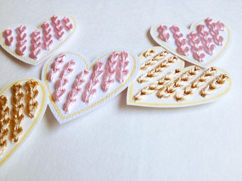 Embroidery-hearts