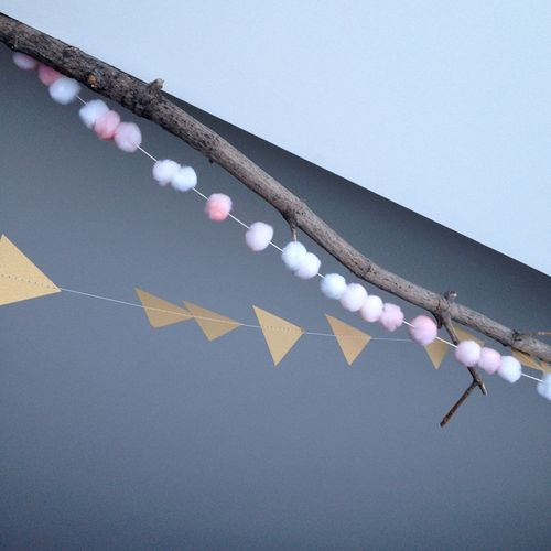 Gold-Arrow-and-Pompom-Garlands